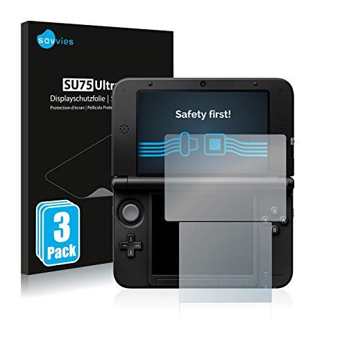 Savvies 6X Schutzfolie kompatibel mit Nintendo 3DS XL SPM7800 Displayschutz-Folie Ultra-transparent