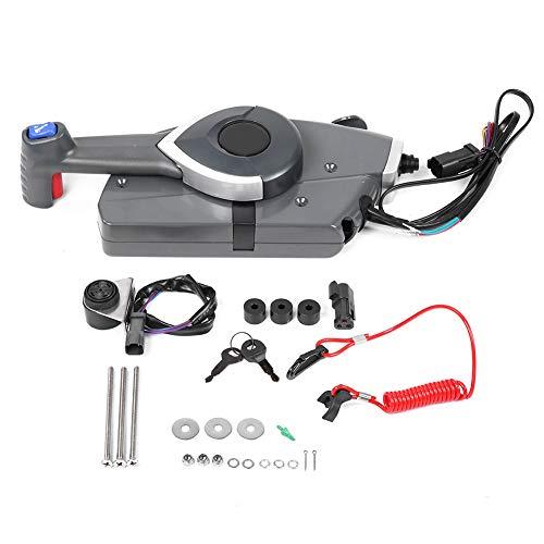 Ymiko Bootsdrosselklappensteuerung, außenbordseitige Fernbedienungsbox Gas/Schalthebel kompatibel mit BRP Johnson Evinrude Boat, OEM 5006180