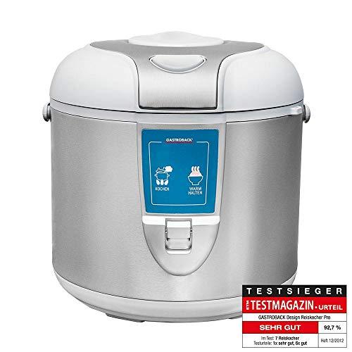 Gastroback 42518 Design Reiskocher Pro, Abschaltautomatik, Warmhalte-Funktion, 5 Liter, antihaftbeschichtet, 700 Watt, Rostfreier Stahl, 5 liters, Silber