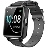 Kids Smartwatch for Boys Girls - Kids Smart Watch Phone Touch Screen with Calls Games Alarm Music Player Camera SOS Calculator Calendar Children Toys Birthday Gifts for 4-12 Years Students (Black)