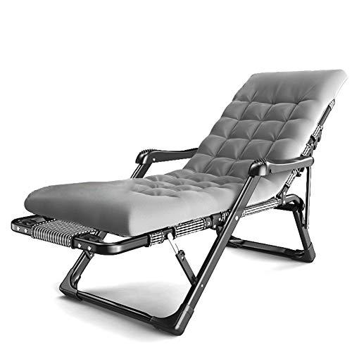 Fauteuils de salon inclinables Chaise longue de jardin inclinable et rembourrée avec coussin épais, Fauteuil lounge surdimensionné de gravité zéro pour personnes très exigeantes, Soutien de 440lbs