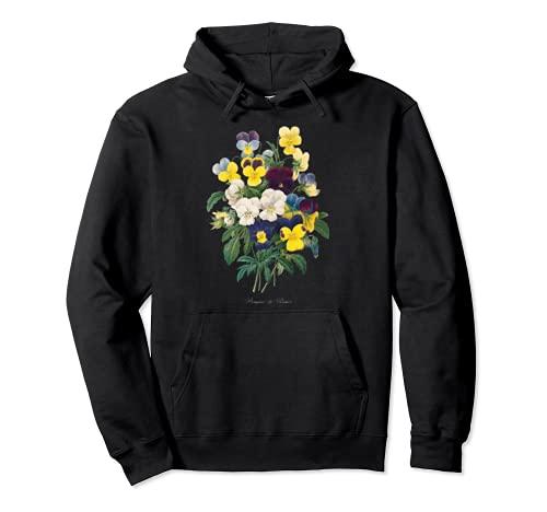 Pierre Joseph Redoute Pansy Pansies Pintura Jardinero de flores Sudadera con Capucha