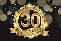 Qinunipoto 1.5m x 1m ビニール 背景布 写真撮影用写真の背景妻夫30歳の誕生日祝う背景30年結婚記念日祝うゴールデンボケ背景パーティー装飾フォトスタジオブース背景小道具