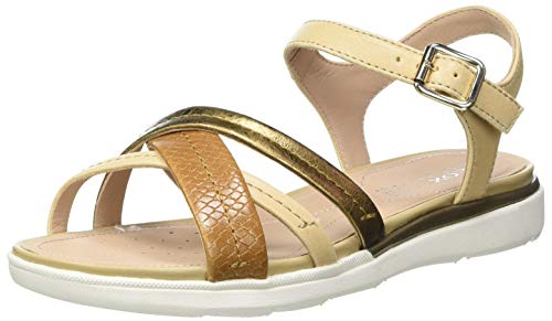 Geox Damen D Hiver A Sandal, Sand/LT Bronze, 40 EU