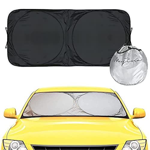 サンシェード 車用 遮光 日よけ カーサンシェード 紫外線対策 遮熱 フロントグラス UVカット 折り畳みワイ...
