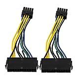 BQLZR 13,5 cm Kabellänge 24 Pin zu 10 Pin ATX Computer Netzteil Motherboard Adapter Verlängerungskabel Pack von 2
