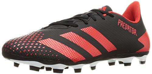 Adidas Predator 20.4 FxG, Zapatillas Deportivas Fútbol Hombre, Negro (Core Black/Active Red/Core Black), 46 2/3 EU
