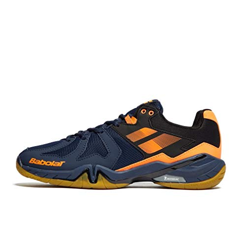 Babolat Herren Shadow Spirit Men Tennisschuhe, Bleu Marine Orange Fluo, 47 EU
