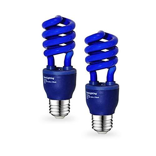 SleekLighting 13 Watt Blue Spiral CFL Fluorescent Light Bulb UL Listed 120Volt, E26 Medium Base.(Pack of 2)