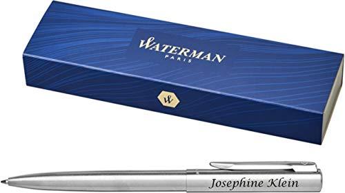 Original Waterman Bolígrafo Graduate Mate C. C. S0038260 con Grabado Láser Grabado - Cromo Brillo Intenso