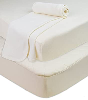 American Baby Company Crib and Toddler Bundle Made with Organic Cotton, Mattress Pad, Fitted Sheet, Thermal Blanket