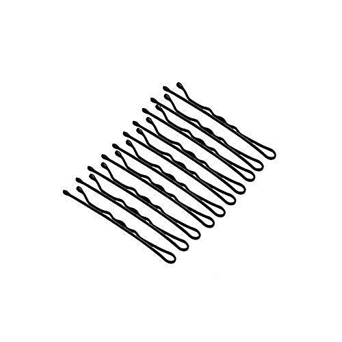 250 épingles à cheveux bouts ronds en métal invisible épingles à cheveux Bobby pour tous types de cheveux noir