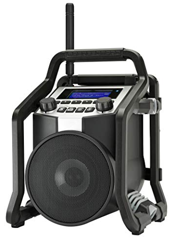 PerfectPro Bouwradio - Powerplayer - Met Bluetooth, DAB+ en FM Radio - Met Oplaadbare Accu - Regen-, Vuil- en Stofbestendig - Met USB en AUX ingang - Te Gebruiken Als Bluetooth Speaker