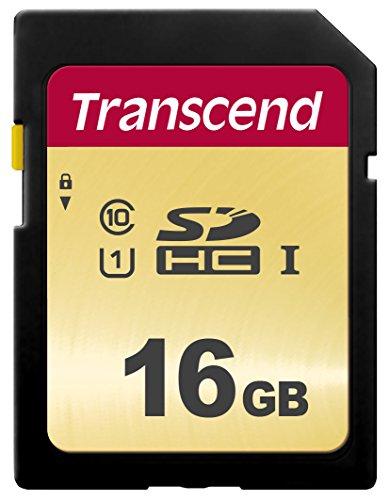 Transcend SDC500S - Tarjeta de memoria SDHC (16 GB) color dorado