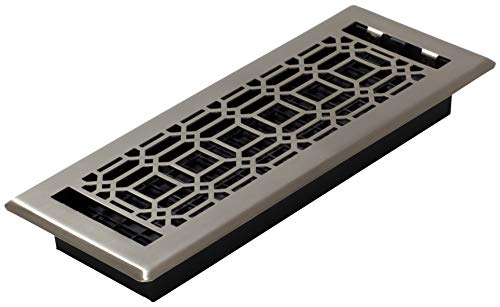 Decor Grates NGH412-NKL Floor Register, 4 x 12, Plated Nickel