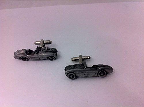 Austin Healey S 3D - 100 Boutons de manchette Homme-Classique-Bouton de manchette en étain Effet ref21