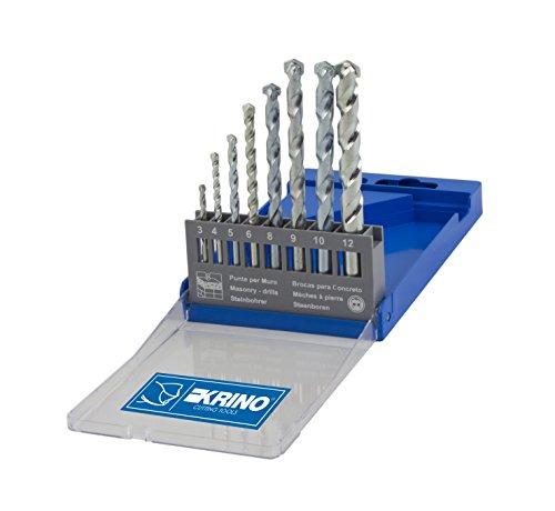 Krino 03050205 8-delige set voor muur 3 tot 12 mm, staal