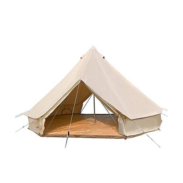 Canvas Bell Tent Gazebo Outdoor Event Canopy Sun Shelter Tarp Garden Event Tents 4