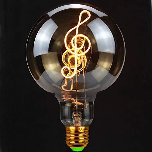 TIANFAN Vintage Gloeilampen Ledlamp 4Watts Dimbare Muziek Decoratieve Gloeilampen 220 / 240V E27 Tafellamp Gloeilamp
