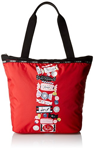 LeSportsac Hailey Tote Handbag, Candy Stripe LRG, One Size