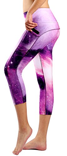 Sugar Pocket Women Running Yoga Pants Patterned Capris L(90)