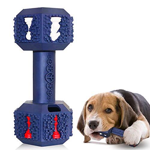 M.C.works Hunde-Kauspielzeug für aggressive Kauer, unzerstörbares Hundespielzeug, ungiftig, robust, Naturkautschuk, Hantel-Spielzeug für mittelgroße und große Hunde.