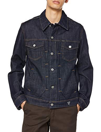 [ゲス] デニムジャケット HERITAGE DILLON DENIM JACKET メンズ ブルー 日本 M (日本サイズM相当)