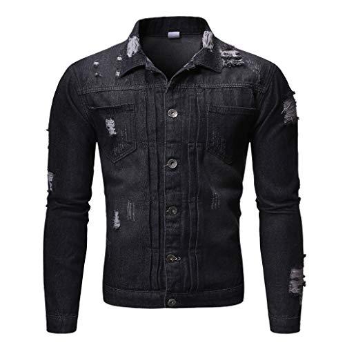Check Out This Men Denim Jacket Slim Fit Vintage Western Boy Button Down Autumn Winter Classic Truck...