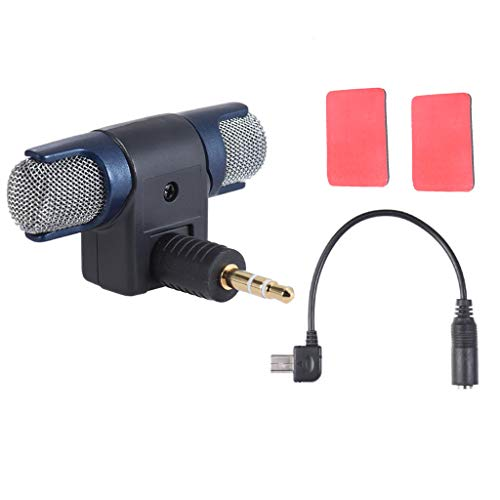 balikha Adaptador de Micrófono de 3,5 Mm MICRÓFONO ESTÉREO con Adaptador USB para 3, 3+, 4