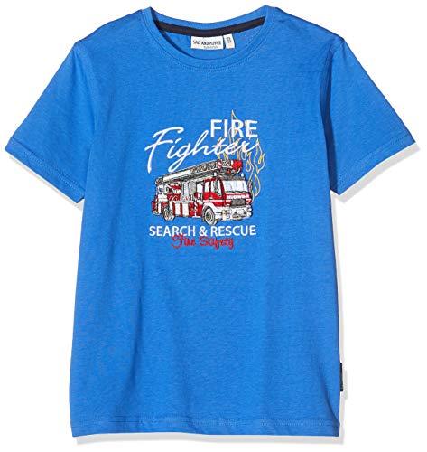 Salt & Pepper Jungen 03112135 T-Shirt, Blau (Strong Blue 483), (Herstellergröße: 104/110)