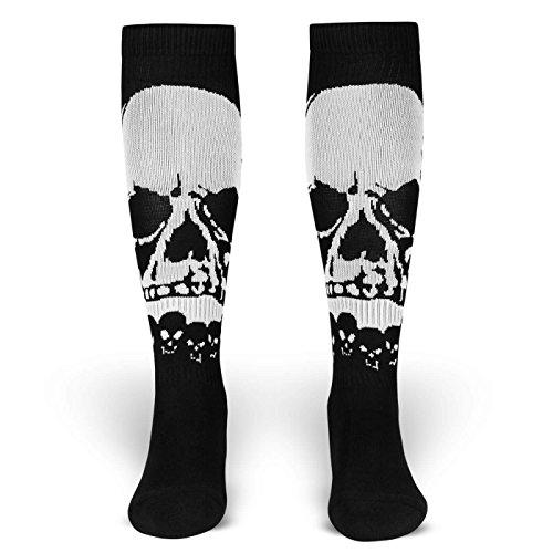 Spirit of 76 Overlord   Socken von ROCKASOX   Schwarz, Weiß   Großer Totenschädel   kniehoch   Unisex Strümpfe Size M (39-42)
