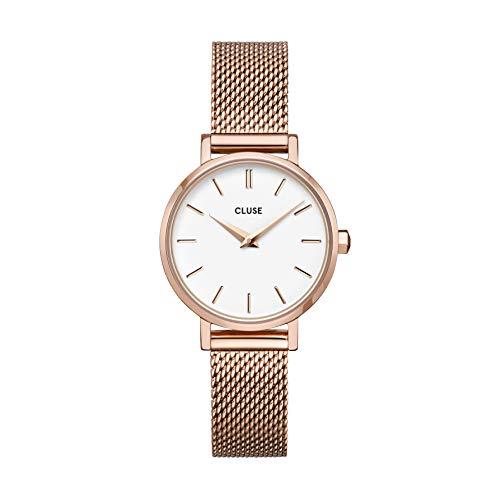 Reloj Solo Tempo de mujer Cluse Boho Chic. Correa de acero con tratamiento PVD oro rosa, cw0101211003