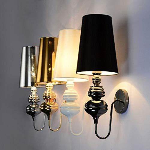 LXGANG Luces de pared Lámpara de pared de Josephine Moderna Glod/Silver/Negro/Blanco Paño Shade Wall Light Sale Living Room Dormitorio al lado de la lámpara Hotel Sconence