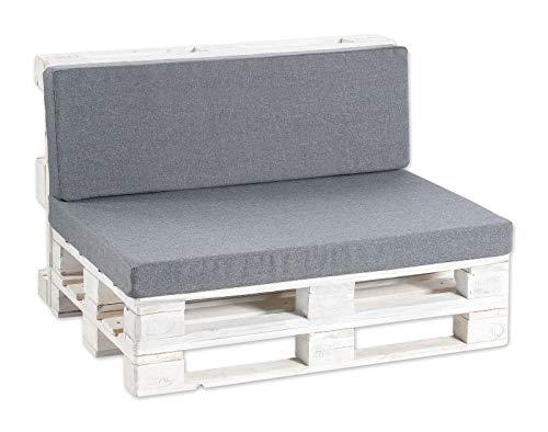 Palettenkissen Palettenauflagen Sitzkissen, Rückenkissen PF (Rückenlehne 120x40 glatt, Anthrazit)