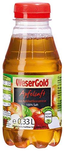 WeserGold Apfelsaft PET, 6er Pack (6 x 330 ml)