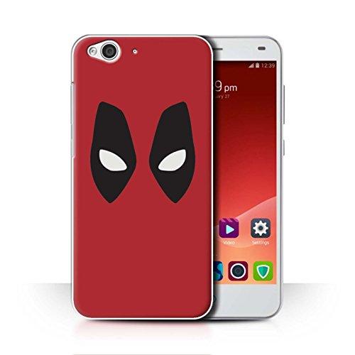 Hülle Für ZTE Blade S6 Superheld Comic-Kunst Deadpool Maske Inspiriert Design Transparent Ultra Dünn Klar Hart Schutz Handyhülle Case