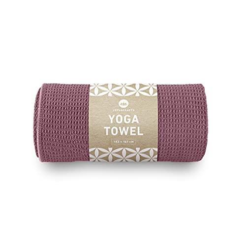 Lotuscrafts Yoga Handtuch Wet Grip - rutschfest & Schnelltrocknend - Antirutsch Yogatuch mit hoher Bodenhaftung - Yogahandtuch ideal für Hot Yoga...