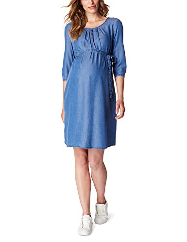 ESPRIT Maternity Damen Umstands Kleider Dress Denim O84279, Blau (Medium Wash 960), 40 (Herstellergröße:40)