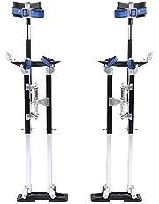 Zancos de Trabajo,para yeseros jardineros o para pintar,Zancos de Paneles de Yeso de Aleación de Aluminio Profesional Ajustable,20-40 Pulgadas