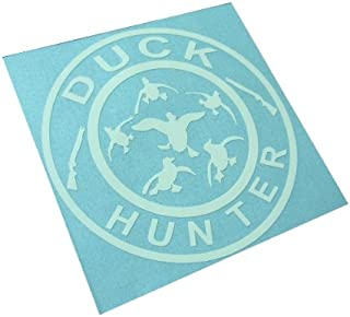 BERRYZILLA QUACKS FLYING DUCKS HUNTER DECAL Hunt Hunting Duck Car Funny Window Bumper Vinyl Sticker (Come With one hand Skateboard decal)