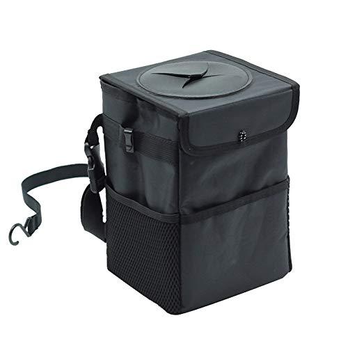 Xcwsmdq Mülleimer Kreative faltender Aufbewahrungsbehälter for Autos Wasserdichtes Abseite Auto Mülleimer Reinigungsmittel (Capacity :) 3L, Color Name : Black