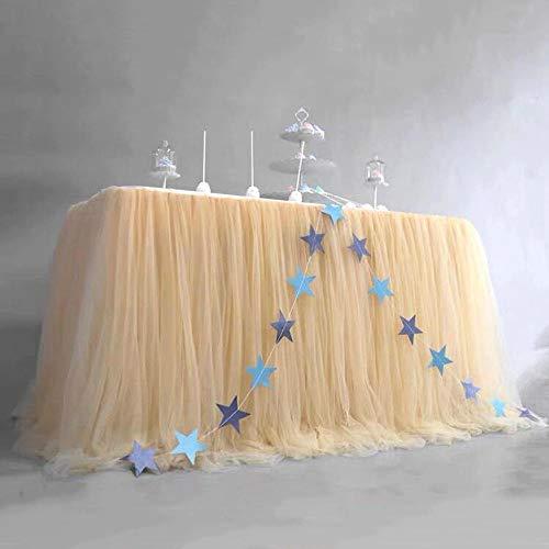 Hengci Net plooirok tafelrok verjaardag desserttafel decoratie voor binnen en buiten.