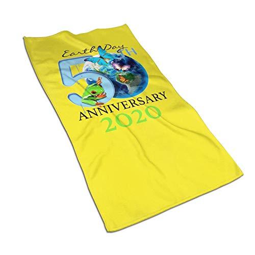 WH-CLA Pool Towel Día De La Tierra 50 Aniversario 2020 Baño Toalla De Piscina De Lujo Toalla De Baño Toalla De Playa para Adultos Coloridas Toallas De Baño De Secado Rápido Únicas 80X130