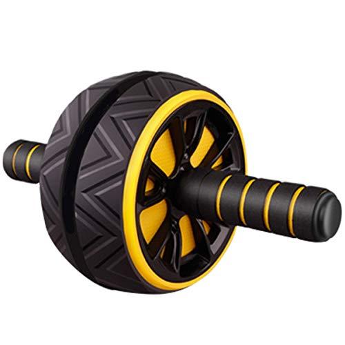 SOONHUA Ab Roller Abdominal Roller Übungsrad Arme Rücken Bauchmuskeltrainer Fitness Stumm Roller für Krafttraining- Körper Fitness-Training-Home-Gym