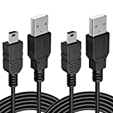 [10FT 2 Pack] PS3 Controller Charger Charging Cable Extra Long Mini USB Fast Charger Cord Compatible with Sony Playstation 3 Wireless Controller Dualshock 3 PS3 Slim PS Move