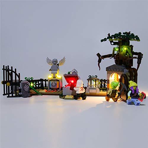 Vipo DIY Beleuchtungsset LED-Kabel Kit für Lego 70420 Hidden Side Geheimnisvoller Friedhof , Lego Modell Nicht enthalten
