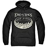 Lord Of The Rings The Journey Unisex Adult Pull-Over Hoodie, Black, Large