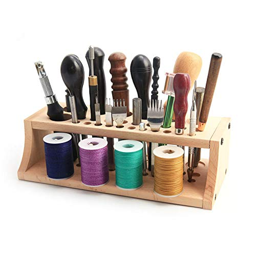 Holz-Werkzeugständer, Werkzeugregal, praktisches Zangenregal, Werkzeughalter, Organizer für Bürsten, Zangen, polierte Stange, Werkzeug (Holzfarbe)