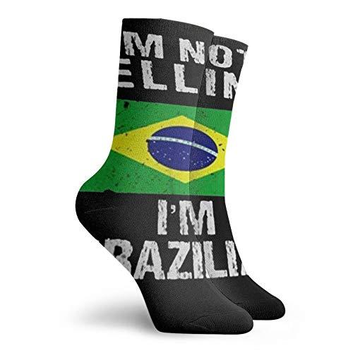 I'M Not Yelling I'M Brazilian Personalized Socks Sport Athletic Stockings 30cm Sock For Men Women