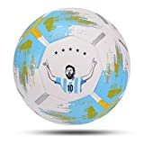 Balón de Fútbol Balón De Fútbol Tamaño 5 Balón De Fútbol PU Antideslizante Equipo De Fútbol De Entrenamiento De Partidos Sin Costuras Fútbol